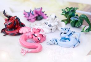 Baby Jewel Dragons by IvrinielsArtNCosplay