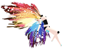 Rainbow Splatter Wings DL by RandomDraggon