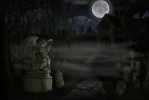 Background Commission Series - Graveyard by Shinobi-201