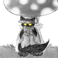 Reading under the Shroom by CochinChick
