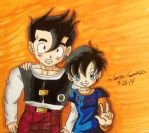 Gohan and Videl! :D (REMAKE WAHAHAHA XD) by dbz-senpai