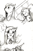 Pinkie/Pinkamina expressions. by dreamingnoctis