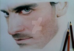 Michael fassbender wip_3 by Dee-java