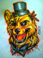 Golden Freddy (realistic) by JuliArt15