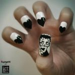Betty Boop Nail Art by KayleighOC