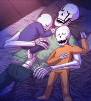 UT - Sleepy Skeletons (Happy Father's Day) by Atlas-White