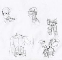 The Deserters 9-uniform and stuff- by Woodpeckery