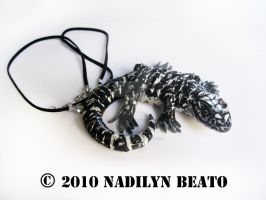 Black and White Tegu by NadilynBeato