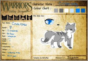 WVS Warrior ~ .:CinderSong:. by SilverKitti