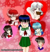 Kagome's Potential Valentines by amethyst-rose