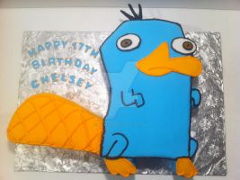 Perry the Platypus Cake by Corpse-Queen