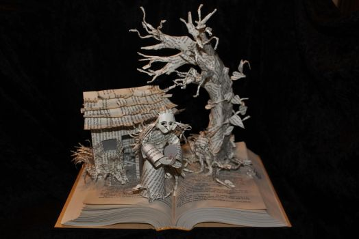 Wizard and Glass Book Sculpture UNLIT by wetcanvas