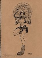 Lara Croft - Tomb Raider - Inktober 2015 by MyBeautifulMonsters