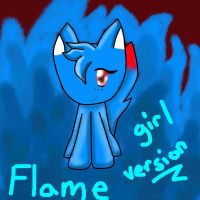 Flame the demon cat ~ from a roleplay~ by 303darkshadows