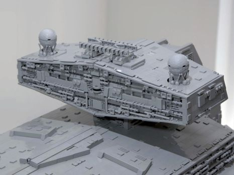LEGO Imperial Star Destroyer Chimaera Bridge Tower by Scharnvirk