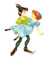 Peter Pan and Wendy by tweakfox
