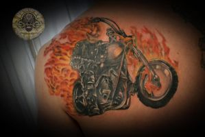 Ghost rider tattoo fin by 2Face-Tattoo
