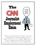 The CNN Journalist Employment Exam: Cover by HeisenburgerKing