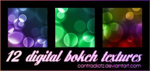 12 Icon-sized Digital Bokeh Textures by contradictz