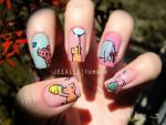 Classic Winnie The Pooh And Friends Nails by jeealee