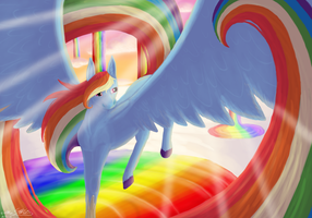 :Just That One Rainbow Pony: by TheDragonFreak77