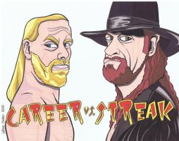Undertaker Vs. Shawn Michaels by tygertailzz