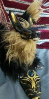 Egyptian Kitsune Posable Art Doll by Eviecats