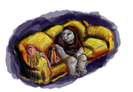 Colored couch by plucky-ducky