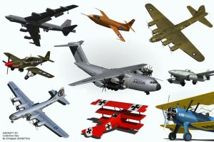 Aircraft 3D collection two. by Emigepa
