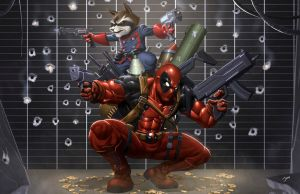 DeadpoolxRacoon by juanFoo