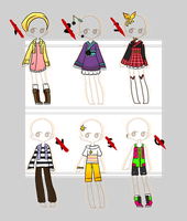 Outfit Adopts Set 1 (CLOSED) by empt-minded