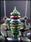 Earth Tribe - Lampwork Bottle by andromeda