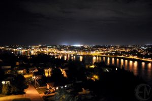 Chicoutimi at night by Metienne