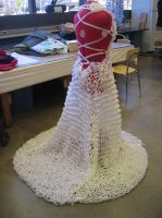 Knitted Ribbon Gown by laurabububun