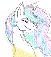 Sketchy Celestia is sketchy by Maiko-of-Harmony