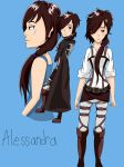 Alessandra Bosco concept drawing ( AOT OC ) by NiaRose2142