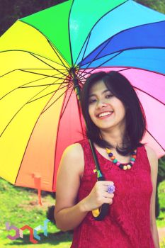 smile under the umbrella by bndisbian
