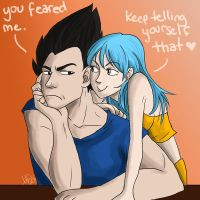 Vegeta and Bulma by peekabooga