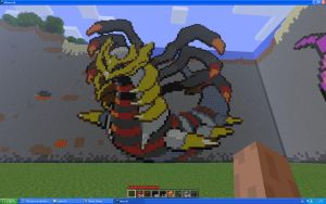 Giratina On Minecraft by Miccopicco