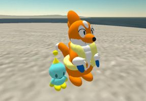 Floatzel and Chao