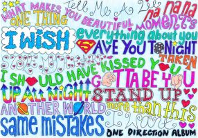 One Direction song titles. by The-Crystizzler1990