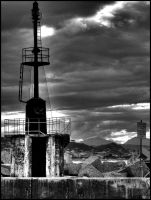 lighthouse black.white by lalas