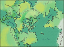 Three Continents of Vylix - Land Map by ArchonofFate
