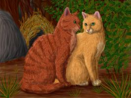Fireheart and Sandstorm by Alisa222