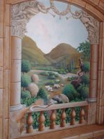 Tuscan Mural 4 by Gallery-of-Art