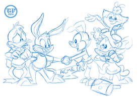 Tiny Toons meet the Warners by Solratic
