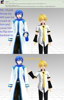 Question 1 for Kaito and Len by LegolasGimli