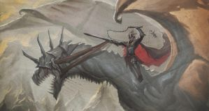The Witch King and His Fellbeast by SaneKyle