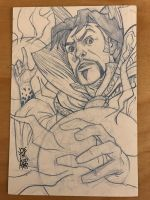 Doctor Strange Sketch Card by hyperjack08
