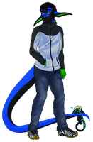 Human Glitch B-day Gift for Vos by CosmicDerp